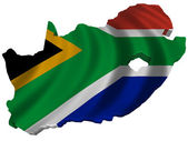 Flag and map of South Africa — Stock Photo