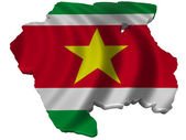 Flag and map of Suriname — Stock Photo