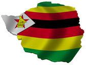 Bandera y mapa de zimbabwe — Foto de Stock