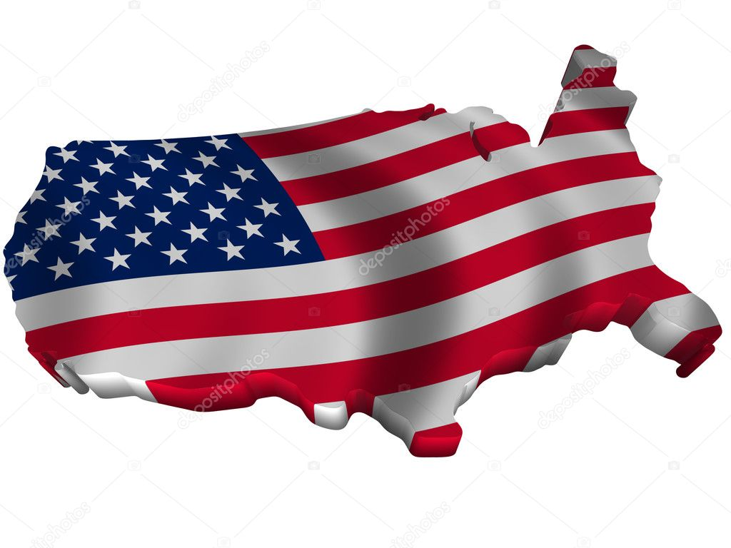 Flag and map of United States of America 2 — Stock Photo © sav_up ...