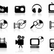 Royalty-Free Stock Vector Image: Media icons set