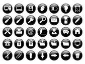 Web 黑色按钮 — 图库矢量图片