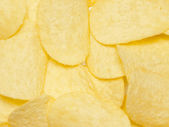 Dried potatoe chips closeup — Stock Photo
