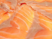 Macro of delicious salmon fillet — Stock Photo
