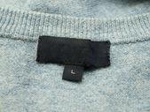 Empty clothing label — Stock Photo