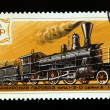 Stamp steam locomotives — Stock Photo