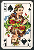 Playing card queen — Stock Photo