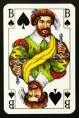 Knave playing card — Stock Photo
