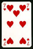 Playing card seven — Stock Photo