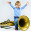 Little musician. — Stock Photo #5246947