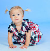 Cute baby Girl In Fashionable Outfit — Stock Photo