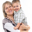 Happy grandmother with grandson vertical view — Stock Photo