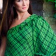 Young pretty woman wearing green — Stock Photo