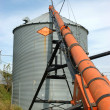 Grain Auger and Bin — Stock Photo