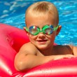 Young Boy in Pool — Stock Photo