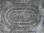 Concrete Welcome Background — Stock Photo