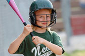 Softball with a Smile — Stock Photo