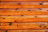 Natural Red Pine Log Cabin — Stock Photo