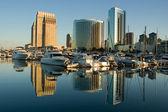 Marina Reflections — Stock Photo