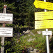 Stock Photo: Hiking signs