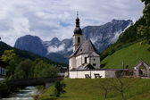 Church St. Sebastian in Ramsau — Stock Photo