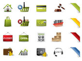 Shopping and auctions icons — Stock Photo