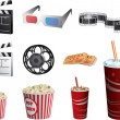 Stock Vector: Cinema symbols vector set