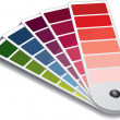 Stock Vector: Pantone color guide