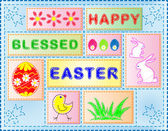 Easter Collage — Stock Vector