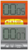 Two convenient household timer in different colors — Stock Vector