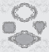 Vintage frames set — Stock Vector