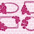 Stock Vector: Banners and Frames with roses