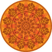 Round background with the Islamic ornamen — Stock Vector