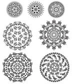 Set of patterns round — Vettoriale Stock