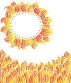 Elements on fire, sun — Stock Vector
