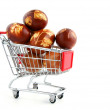 Stock Photo: Easter eggs in shopping trolley