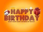 Happy Birthday Card — Stock Photo