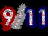 September 11, Typographic Illustration — Stock Photo