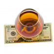 Glass of alcohol with dollar — Stock Photo #5369730