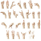 ASL Alphabet — Stock Photo