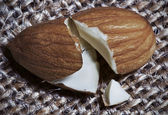 Broken Almond — Stock Photo