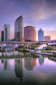 Sunrise Downtown Tampa, Florida — Stock Photo
