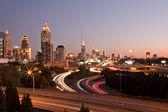 Atlanta panorama slunce — Stock fotografie