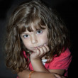 Cute little girl waiting — Stock Photo #5326642