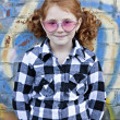 Little redheaded girl outdoors — Stock Photo #5326722