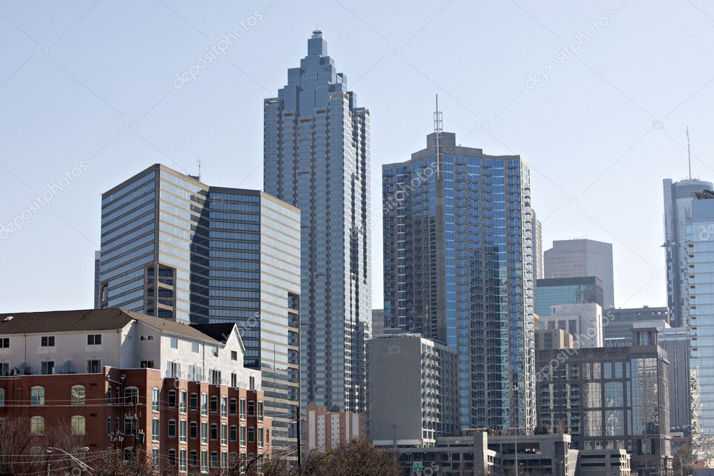 Sunrise or sunset downtown Atlanta skyline  Stock Photo #5326703