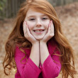 redheaded little girl — Stock Photo