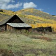 Abandoned House in Colorado Ghost Town - Stock Photo