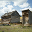 Abandoned House and Outhouse in Colorado Ghost Town - ストック写真