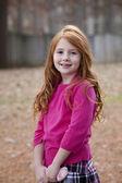 Redheaded little girl — Stock Photo